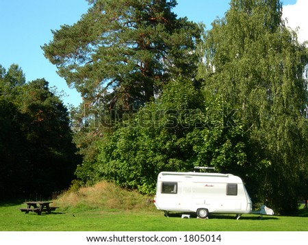 Camping ground. - stock photo