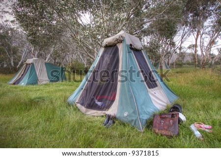 Camping Holiday - stock photo