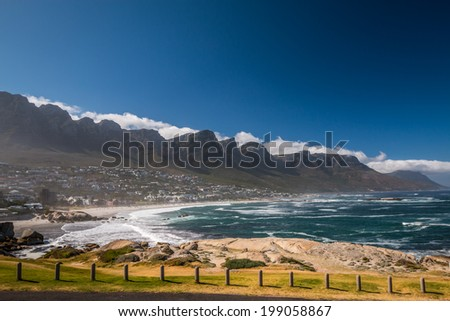 Camps Bay Beach, Cape Town South Africa - stock photo