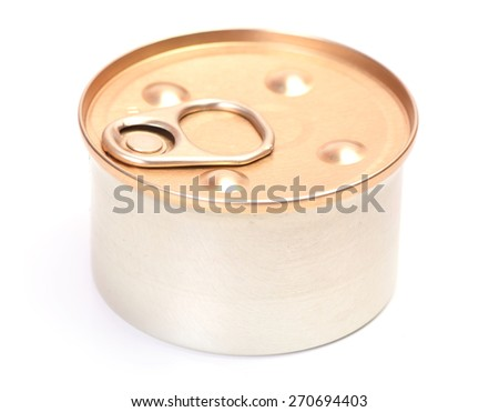 Can isolated - stock photo