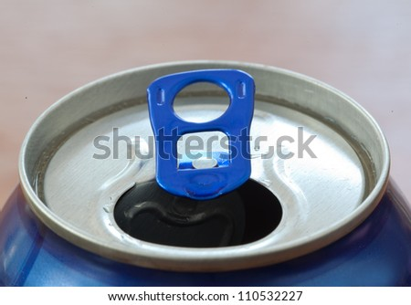 Can of alcohol waiting to be drank - stock photo