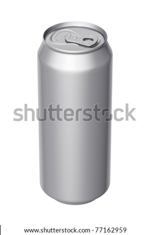 Can of beer on a white background - stock photo