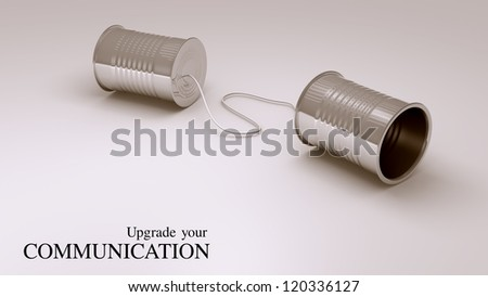can phone : upgrade your communication - stock photo