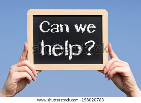 Can we help ? - stock photo