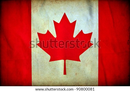 Canada grunge flag - stock photo