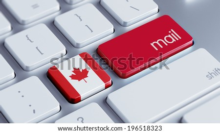 Canada High Resolution Mail Concept - stock photo