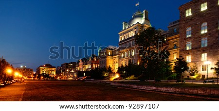 Canada, Montreal city at night - stock photo