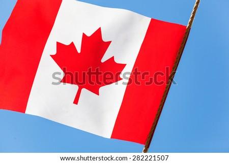canada national flag - stock photo