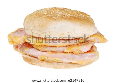 Canadian back bacon sandwich - stock photo