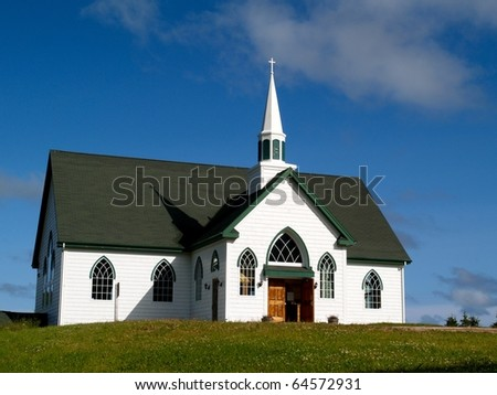 Canadian Church - stock photo