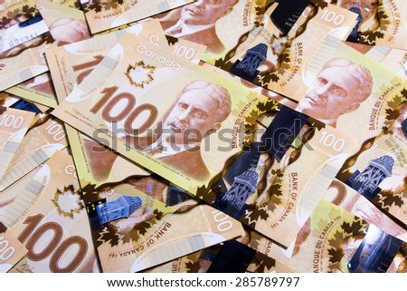 Canadian Dollar, concept of business and finance - stock photo