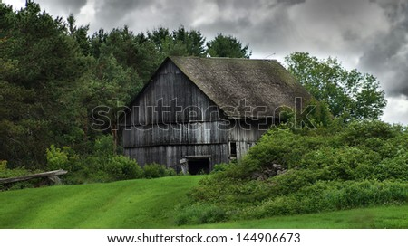 Canadian Old barn - stock photo