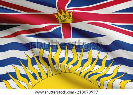 Canadian provinces flags series - British Columbia - stock photo