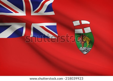 Canadian provinces flags series - Manitoba - stock photo
