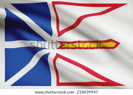 Canadian provinces flags series - Newfoundland and Labrador - stock photo