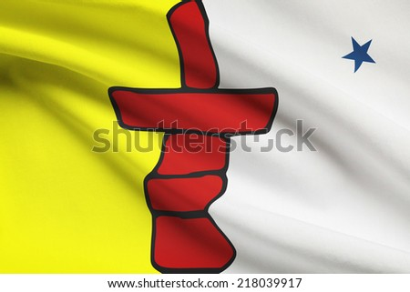 Canadian provinces flags series - Nunavut - stock photo