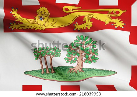 Canadian provinces flags series - Prince Edward Island - stock photo