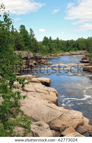 Canadian river - stock photo