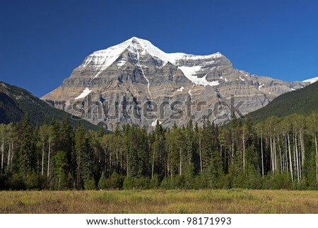 Canadian Rockies, Mount Robson - stock photo