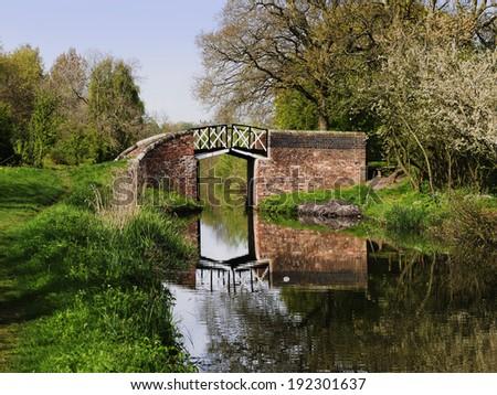 canal bridge - stock photo