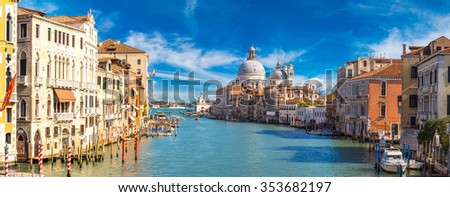 Canal Grande in a summer day in Venice, Italy - stock photo