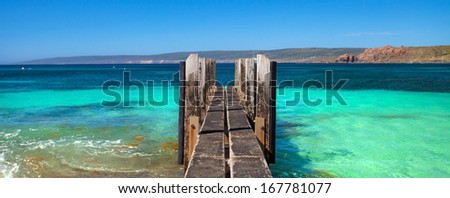 Canal Rocks, near Yallingup, Western Australia  - stock photo