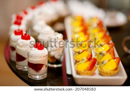 Canape dessert stock photo for Canape desserts