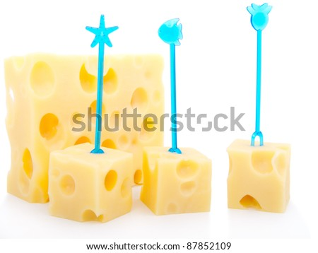 canape made from cheese - stock photo