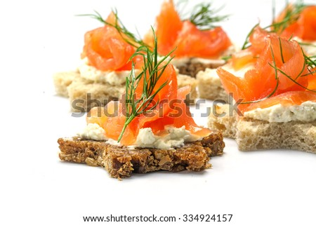 Canape stock photos images pictures shutterstock for Canape garnishes
