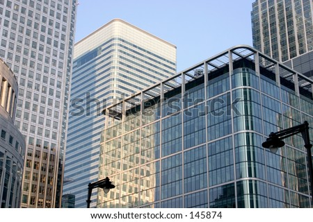 Canary Wharf Centre in London - stock photo