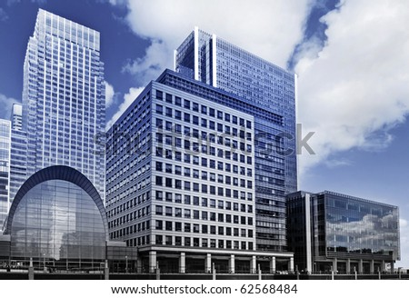 Canary Wharf, Futuristic face of London's famous financial district. - stock photo