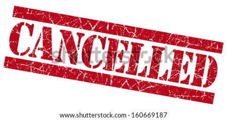 Cancelled grunge red stamp - stock photo