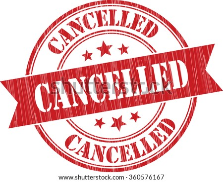 Cancelled grunge stamp - stock photo