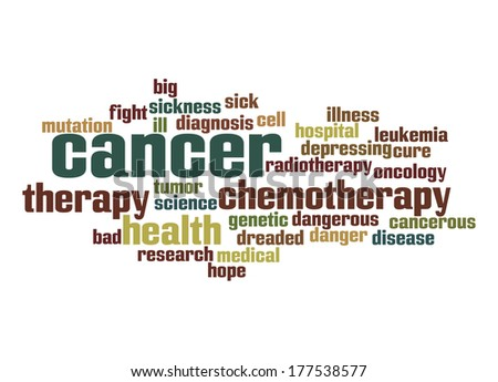 Cancer word cloud - stock photo