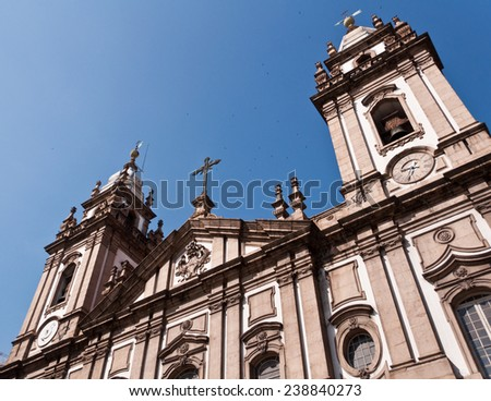 Candelaria Church (Igreja de Nossa Senhora da Candelaria) in Rio de Janeiro, Brazil - stock photo