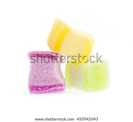 candies Jelly sweet isolated on white background - stock photo