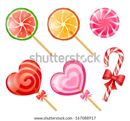 Candies set - raster version - stock photo