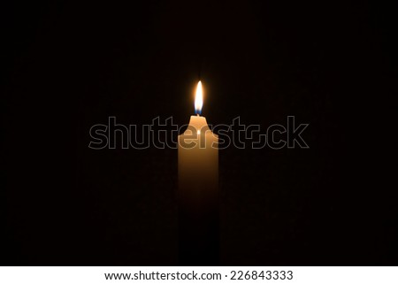 candle and background - stock photo