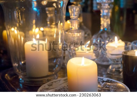 Candle decorative - stock photo
