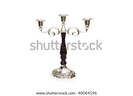 Candle holder isolated on the white background - stock photo