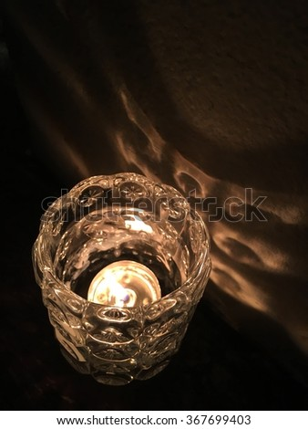 Candle in glass - stock photo