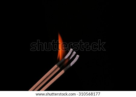 candle , incense - stock photo