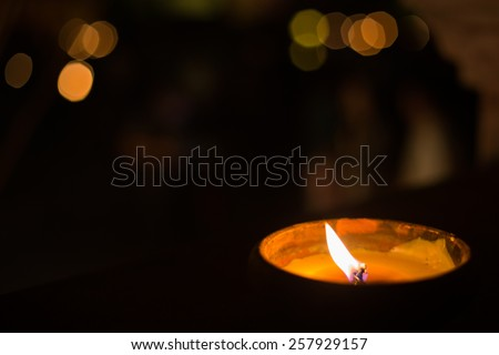 candle light with bokeh, hope concept. - stock photo