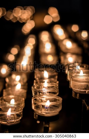 candle lights - stock photo