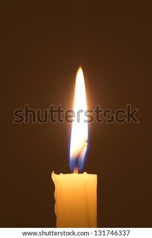 candle lit at night - stock photo