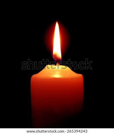 Candle on over dark background  - stock photo