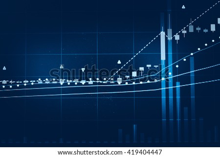 Candle stick graph chart of stock market investment trading. The Forex graph chart on the digital screen. - stock photo