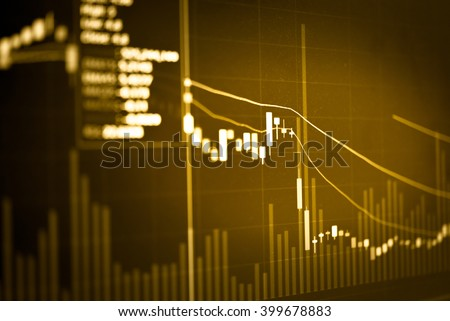 Candle stick graph chart of stock market investment trading. Trading&analysis of Forex graph, Forex trading, Forex market, Forex background, Forex education. - stock photo