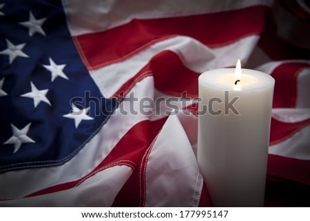 Candle Vigil - stock photo
