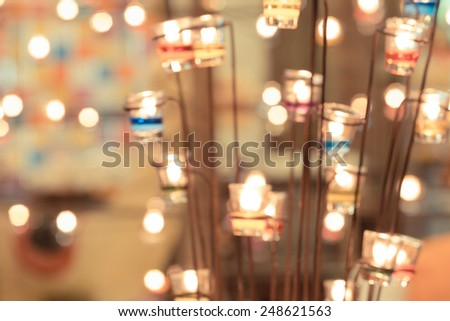 Candlelight and bokeh background - stock photo